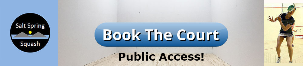 Book The Court - Salt Spring Squash Club